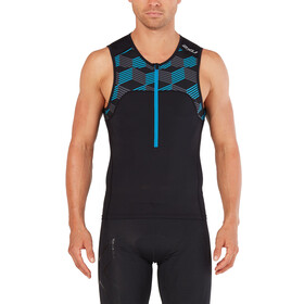 2XU Active Tri Singlet Men black/retro dresden blue